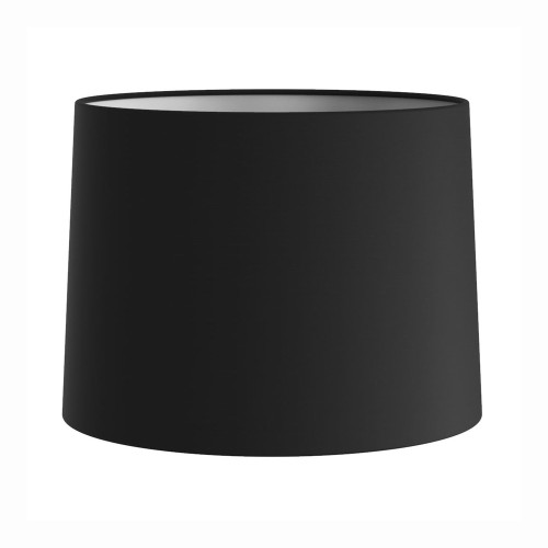 Tapered Drum 177 Black Fabric Shade (round) with E27/ES Shade Ring and E14 Shade Reducer, Astro 5013002