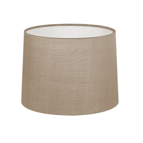 Tapered Drum 177 Oyster Fabric Shade (round) with E27/ES Shade Ring and E14 Shade Reducer, Astro 5013003