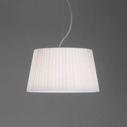Tapered Round 400 Pleated White Fabric Shade with E27/ES Ring 230m x 400mm Diameter, Astro 5002009