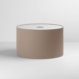 Drum 420 Oyster Fabric Shade with E27/ES Shade Ring 250mm height x 420mm diameter, Astro 5016006