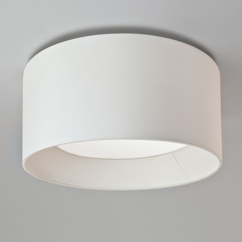 Bevel Round 600 White Fabric Shade for Astro 7057 4-Way Plate (shade only), Astro 5021001