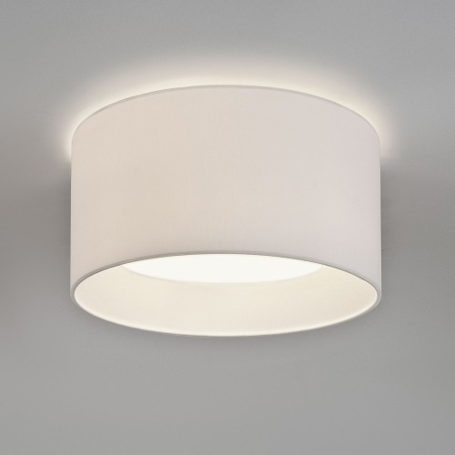 Bevel Round 450 White Fabric Shade for AX7056 3-Way Flush Plate (shade only), Astro 5021003