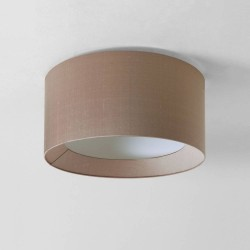 Bevel Round 450 Oyster Fabric Shade for AX7056 3-Way Flush Plate (shade only), Astro 5021011