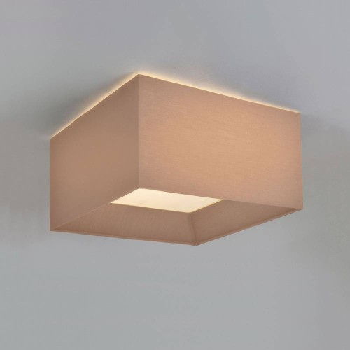 Bevel Square 400 Oyster Fabric Shade for AX7056 3-Way Flush Plate (shade only), Astro 5021012