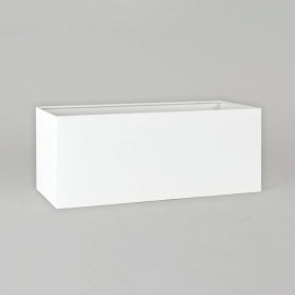 Park Lane Twin Shade White Fabric 175mm x 445mm x 140mm Rectangular with E27/ES Shade Ring, Astro 5001014