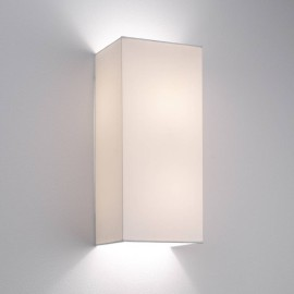 Chuo Rectangle 380 Shade in White for the Backplate 1 Wall Bracket, Astro 5024001