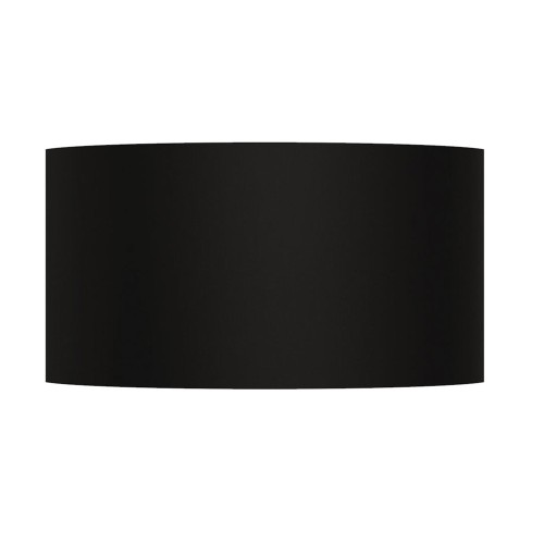 Semi Drum 320 Black Shade with E27/ES Shade Ring for the Lima Wall Lights 170 x 320 x 118mm Astro 5026002