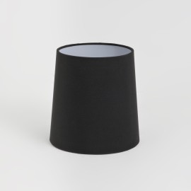 Cone 160 Black Fabric Shade 160mm height x 160mm diameter with E27/ES Ring, Astro 5018012
