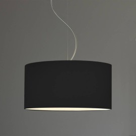 Drum 500 Black Fabric Shade with E27/ES Shade Ring 250mm height x 500mm diameter, Astro 5016011