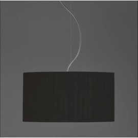 Drum 400 Pleated Black Fabric Shade with E27/ES Shade Ring 230mm height x 400mm diameter, Astro 5016014