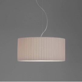 Drum 400 Pleated Putty Fabric Shade with E27/ES Shade Ring 230mm height x 400mm diameter, Astro 5016015