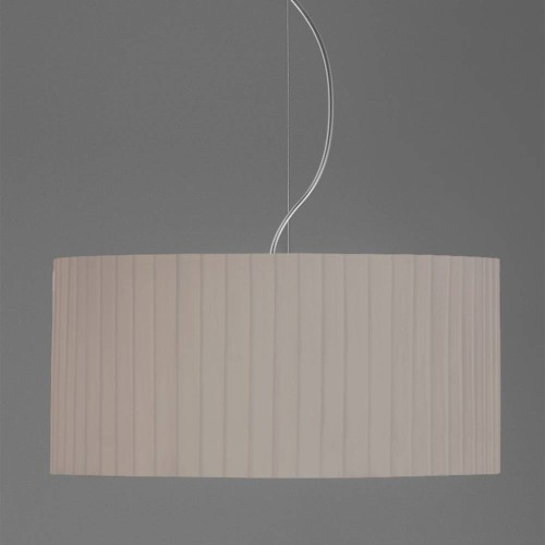 Drum 500 Pleated Putty Fabric Shade with E27/ES Shade Ring 230mm height x 500mm diameter, Astro 5016018