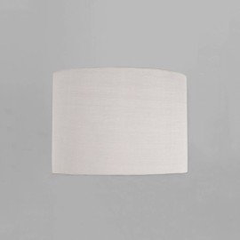 Drum 200 White Fabric Shade with E27/ES Shade Ring 160mm height x 200mm diameter, Astro 5016020