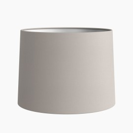 Tapered Drum 177 Putty Fabric Shade (round) with E27/ES Shade Ring and E14 Shade Reducer, Astro 5013006