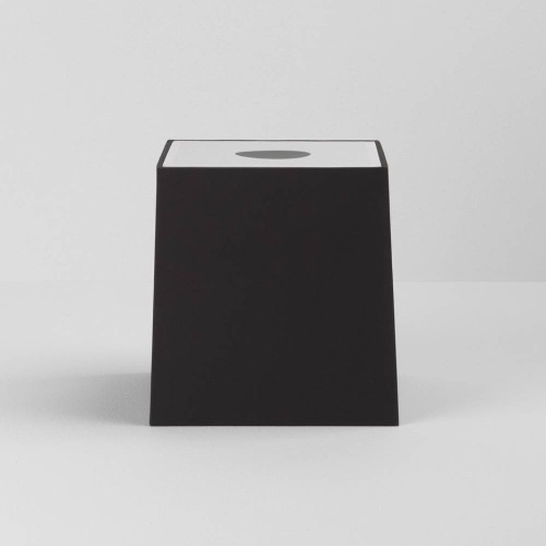 Ravello Tapered Square 175 Black Shade with diffuser and E27/ES Shade Ring for the Ravello Wall Lamps, Astro 5030003