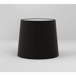 Cone 180 Black Fabric Shade with E27/ES Ring for Side by Side Wall Lamp, Astro 5018036