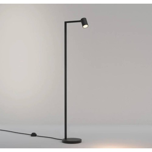 Ascoli Floor Lamp in Matt Black IP20 rated 1 x 6W LED GU10 with Switch on Cord, Astro 1286087