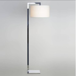 Ravello Polished Chrome Floor Lamp using 1 x 12W max. LED E27/ES Switched (no shade) Astro 1222001