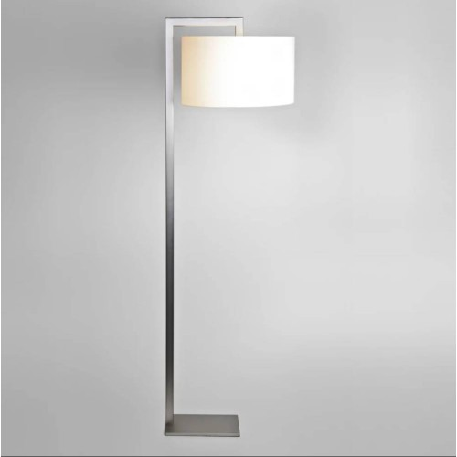 Ravello Matt Nickel Floor Lamp using 1 x 12W max. LED E27/ES Switched (no shade) Astro 1222002