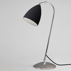 Joel Adjustable Table Lamp in Matt Black with Chrome Switched with Cord E27 max. 42W, Astro 1223002