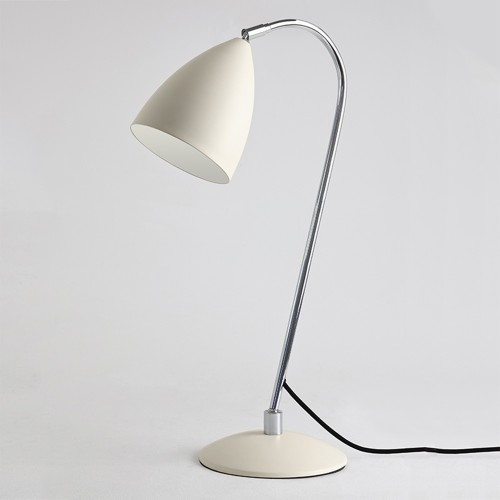 Joel Cream Table Lamp with Chrome Detailing and Switch on the Cord E27 max. 42W, Astro 1223003
