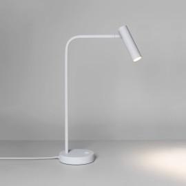 Enna Desk LED Light Matt White 4.5W 2700K 124lm LED Lamp Adjustable Head and Switch on Base Astro 1058005