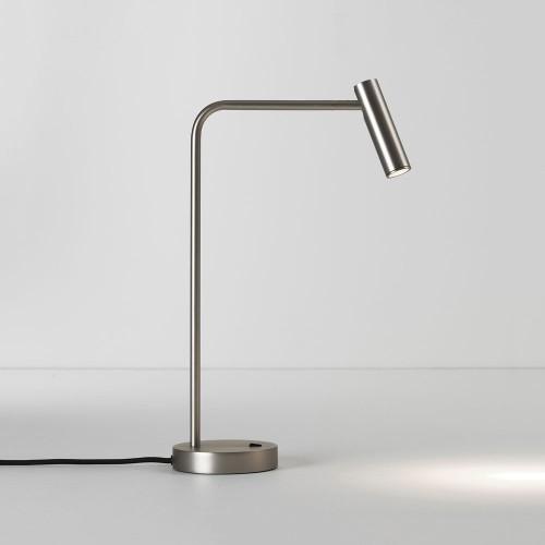 Enna Desk LED Lamp Switched in Matt Nickel using 4.5W 2700K LED Lamp 2m cord, Astro 1058057