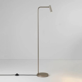Enna Floor LED Lamp in Matt Nickel Switched using 4.5W 2700K LED IP20 with 3m Cable, Astro 1058058