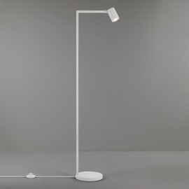 Ascoli Floor Lamp in Matt White IP20 rated 1 x 6W LED GU10 with Switch on Cord, Astro 1286018