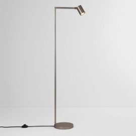 Ascoli Floor Lamp in Matt Nickel IP20 rated 1 x 6W LED GU10 with Switch on Cord, Astro 1286019