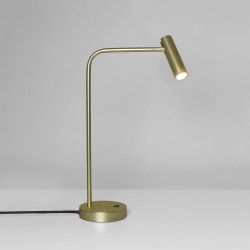 Enna Desk LED Lamp Switched in Matt Gold using 4.5W 2700K LED Lamp 2m cord, Astro 1058106