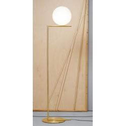 Flos iC F2 Brass Floor Light Large with 30cm Opal Diffuser design Michael Anastassiades
