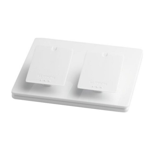 Lutron L-PED2-WH Pico Double Tabletop Pedestal in Gloss White for Pico Wireless