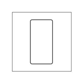 Lutron LPFP-S1-TAW Single Square Faceplate Kit in Arctic White for Pico Wireless Remote
