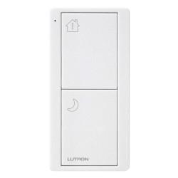 Lutron RA2 Select Two Button Pico Scene Keypad RF Remote Control Bedside in Matt White PK2-2B-TAW-P02