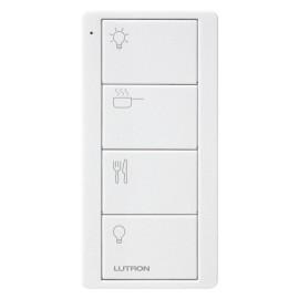 Lutron Pico 4 Button RF Remote Control for Kitchen, 4 Scene Keypad in White PK2-4B-TAW-P02