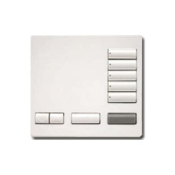 Lutron 5 Button Tabletop Remote Keypad in Snow White with Raise/Lower, All On and All Off RRK-T5RL-SW