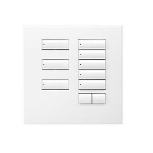 Lutron International seeTouch QS 8-Button Switch in Arctic White with Raise/Lower, non-insert wallstation QSWE-8BRLN-AW