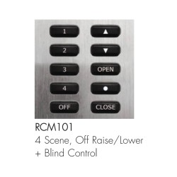 Rako 10 Buttons 4 Scenes Wireless Control Module with Masters Fade Up/down, 4 Scenes, Off, and Blinds Control, Rako RCM-101