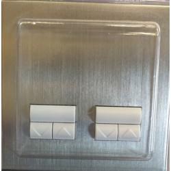 Lutron Dual Rania RDDU-H-FSN/AW-E Accessory Slave Twin Dimmer Multi-way Satin Nickel White Buttons