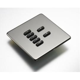 Rako 7 Button Wireless Screwless Cover Plate Kit in Black Nickel, Rako RLF-070-BN