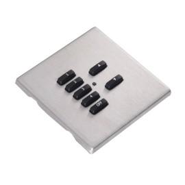 Rako RLM Screwless 7 Button Stainless Steel Screwless Flush Cover Plate RLM-070-SS