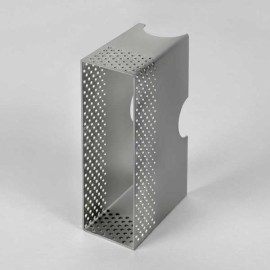 Metal Wall Box Bright Zinc Plated for the Borgo 55 LED Lights Installation in Solid Brick Walls, Astro 6013001