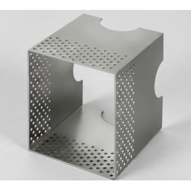 Metal Wall Box Bright Zinc Plated for the Borgo 90 LED Lights Installation in Solid Brick Walls, Astro 6013002