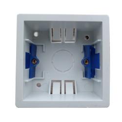 1 Gang 35mm Deep Dry Lining Box in White Plastic, BG Nexus 907-01 Pattress Single