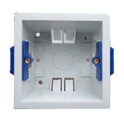 1 Gang 47mm Deep Dry Lining Box in White Plastic, BG Nexus 47mm Pattress Single
