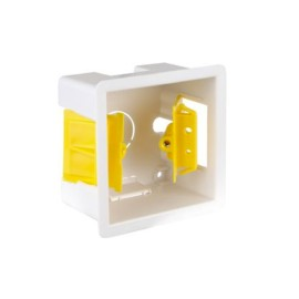 1 Gang 47mm Single Dry Lining Box with Adjustable Lugs, 73mm x 73mm Cutout