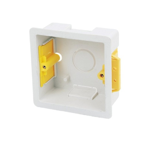 1 Gang 35mm Single Dry Lining Box for Flush Mounting in Partition Wall, 73mm x 73mm Cutout