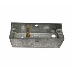 1 Gang Architrave Flush Box 75mm length x 25mm depth x 28mm width Metal Back Box