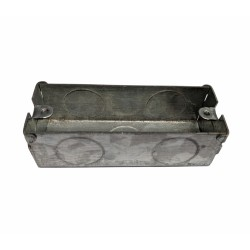 1 Gang Architrave Flush Box 87mm length x 27mm depth x 32mm width Metal Back Box